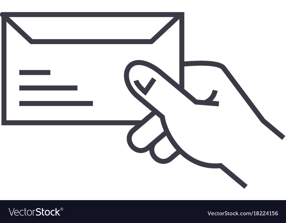 Get mail linear icon sign symbol on vector image