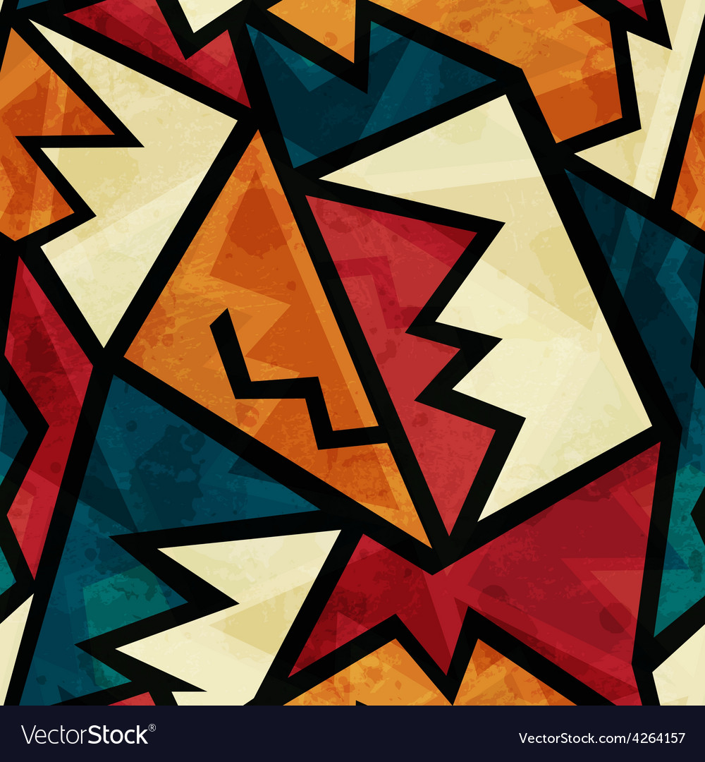 African seamless texture with grunge effect vector image