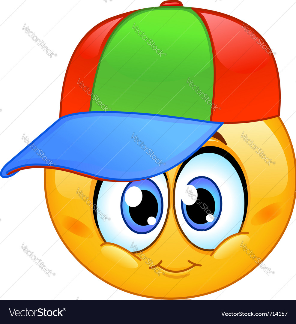 Kid emoticon vector image
