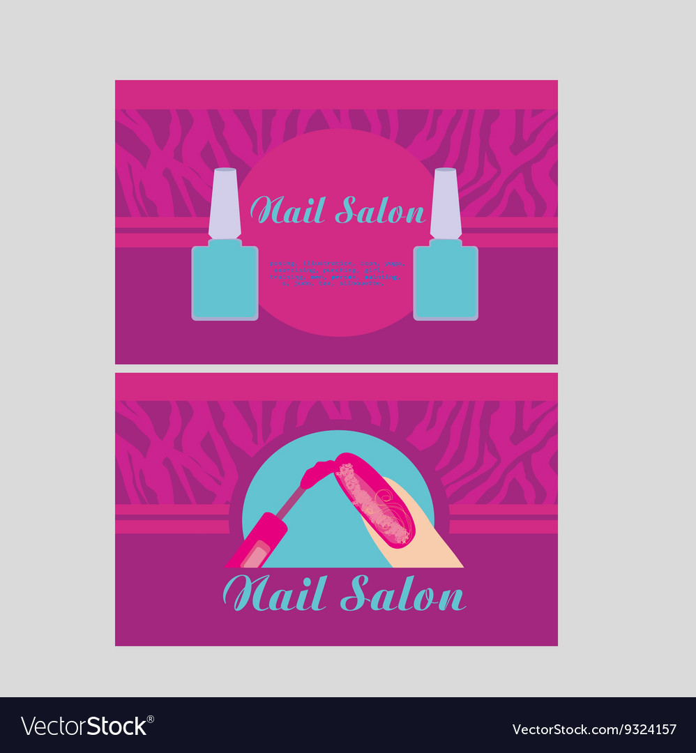 Nail Business Cards Choice Image - Business Card Template