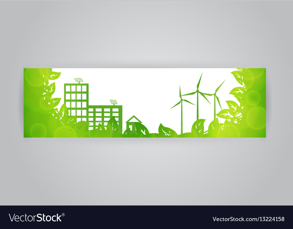 Eco town banner vector image