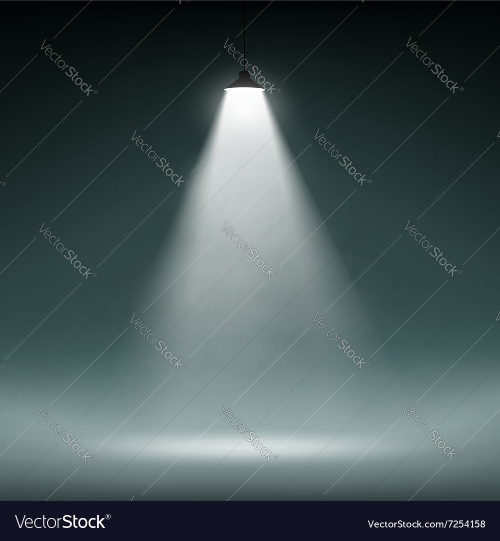 Lantern illuminates the dark space vector image