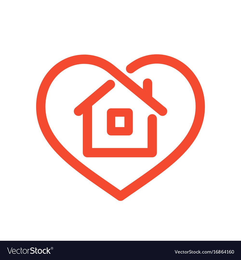 House in heart vector image