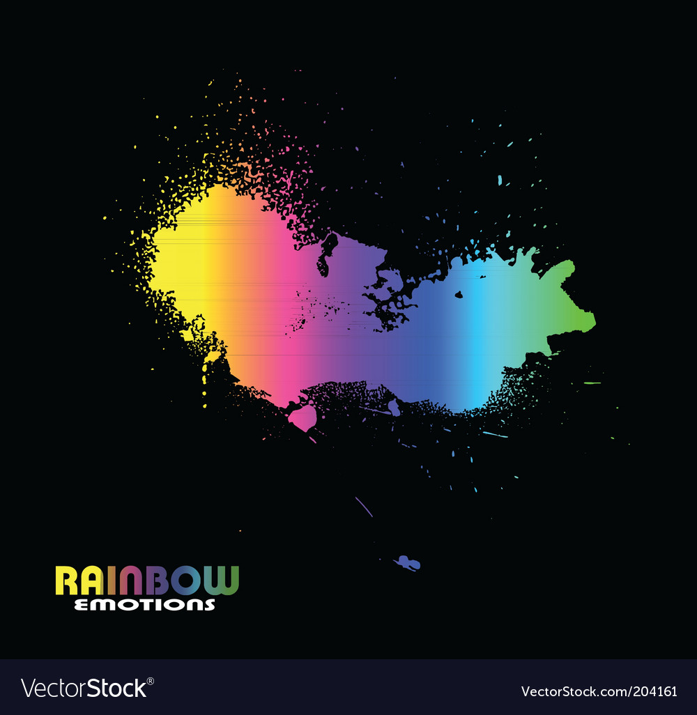 Grunge bright spectrum vector image