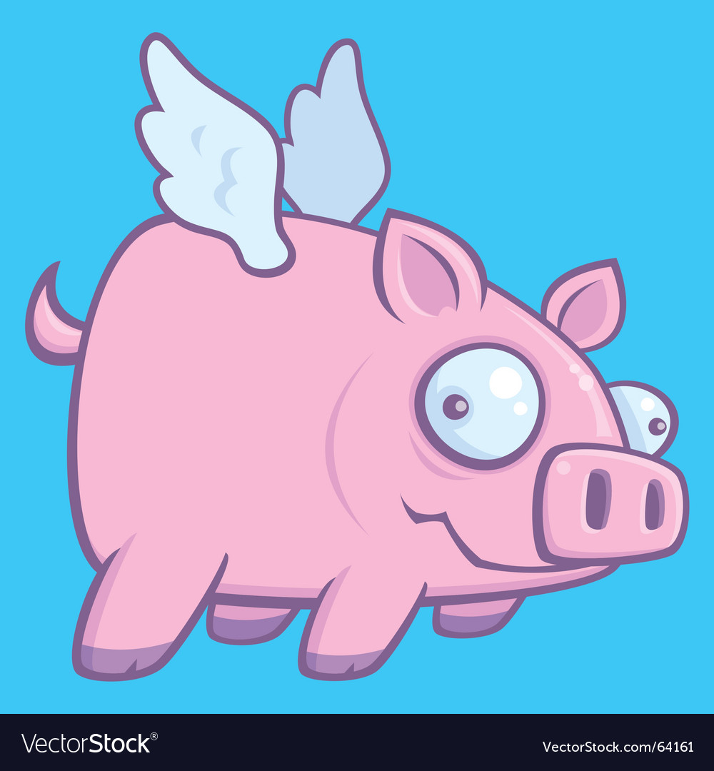 Pigs fly vector image