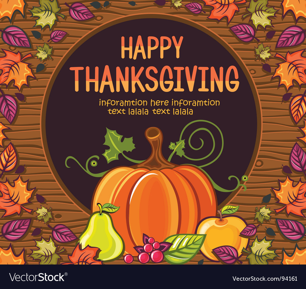 Thanksgiving greeting card royalty free vector image thanksgiving greeting card vector image kristyandbryce Choice Image