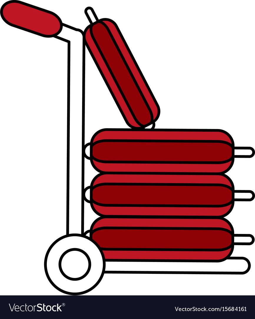 Trolley platform vector image