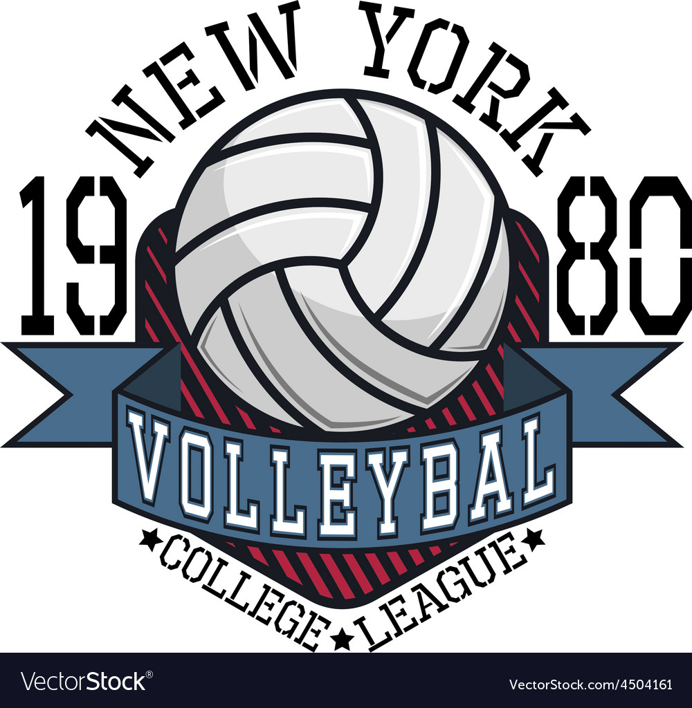 Volleyball College League New YorkT-shirt vector image