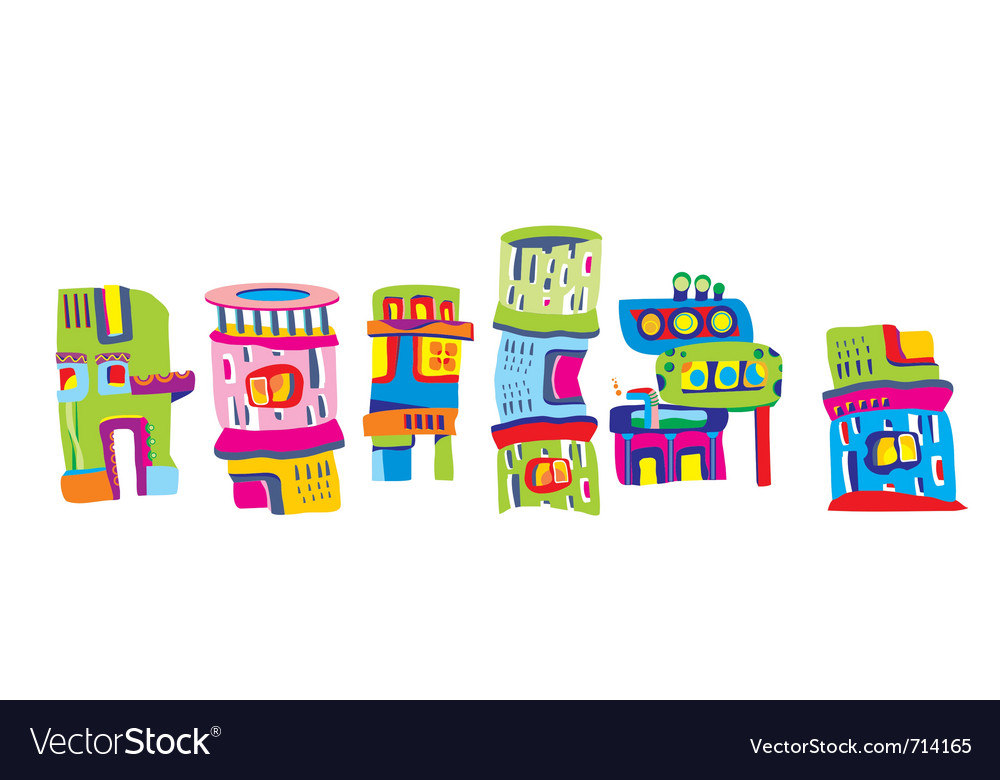 Fairy houses vector image