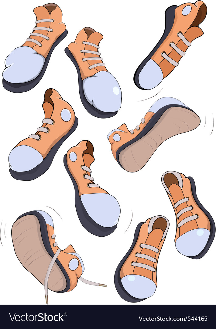 Sports footwear gym shoes vector image