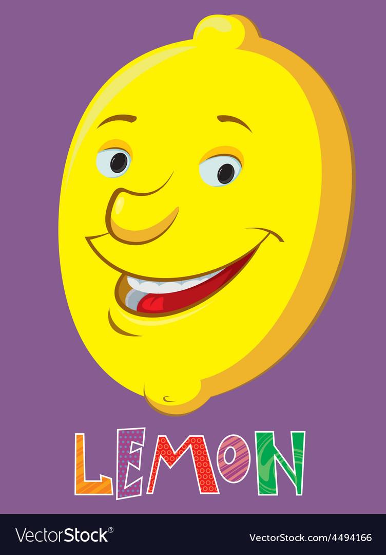 Cartoon lemon vector image
