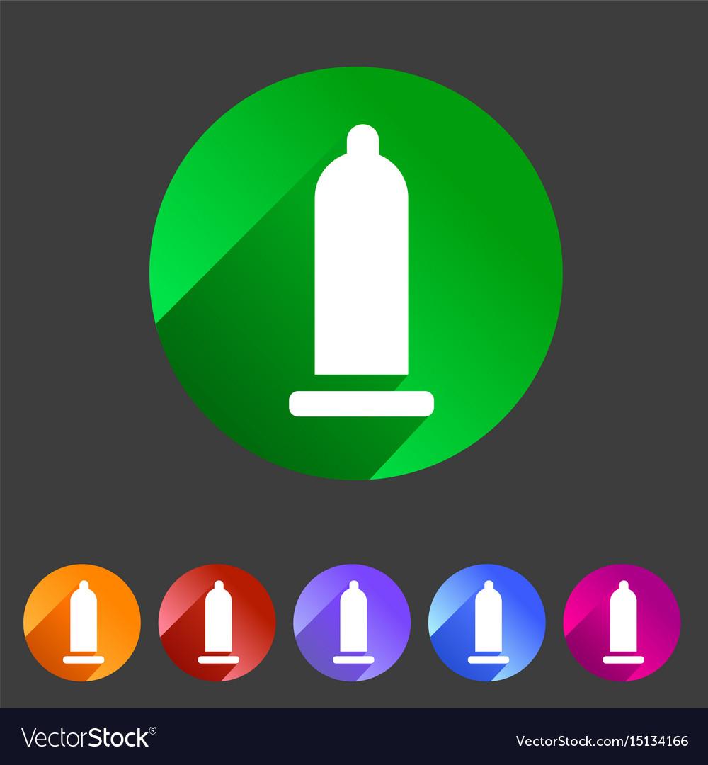 Condom preservative icon flat web sign symbol logo vector image
