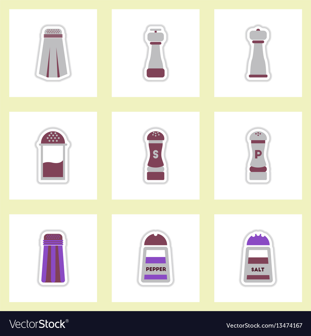 Set of label icon on design sticker collection vector image