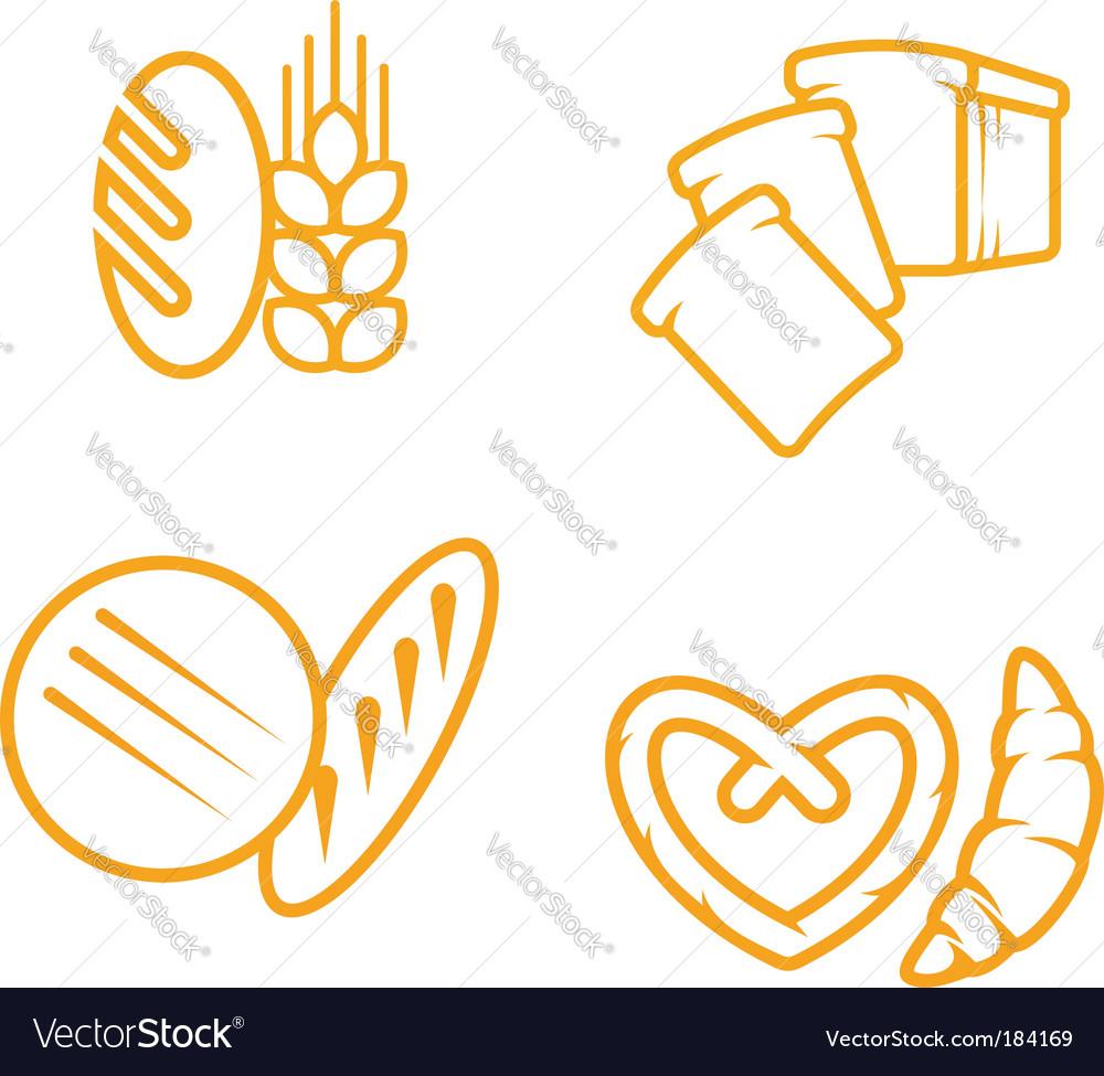Bread symbols vector image