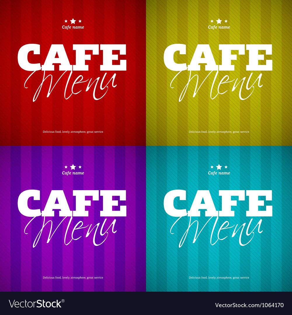 Cafe Menu card design template vector image