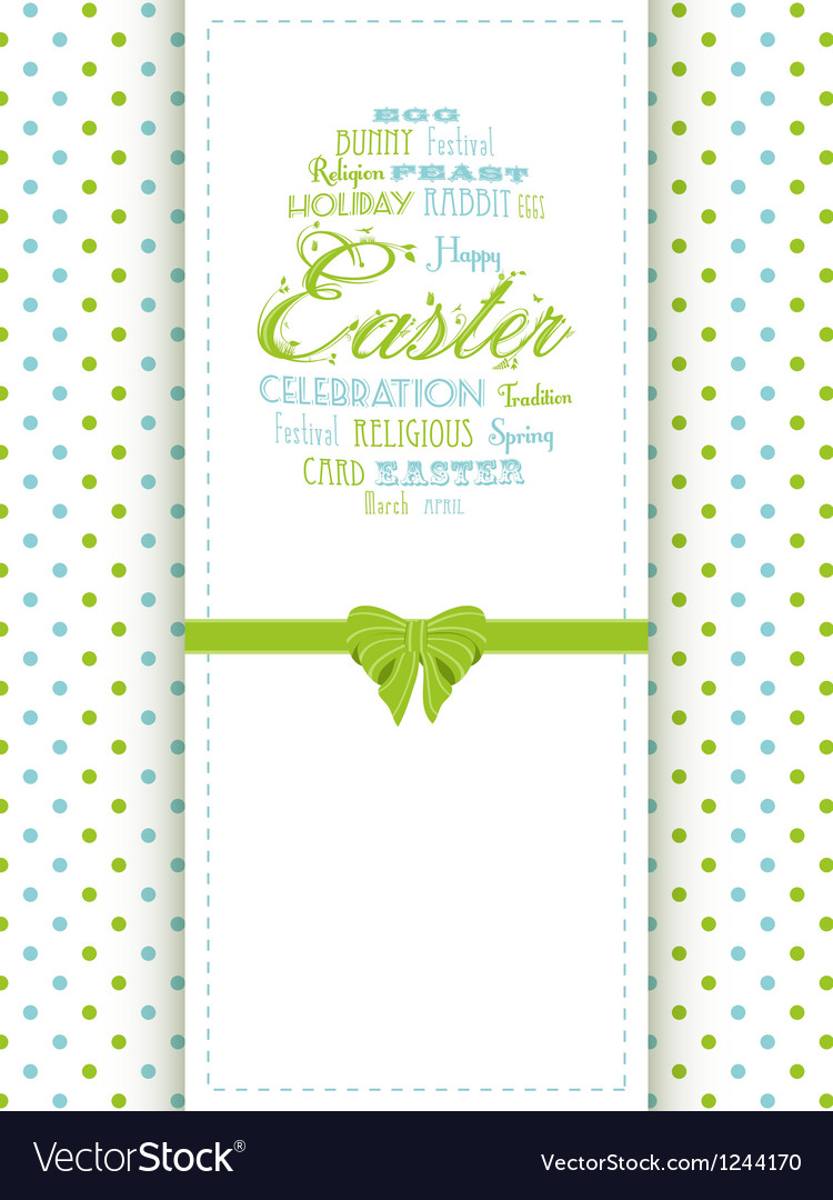 Easter background panel vector image