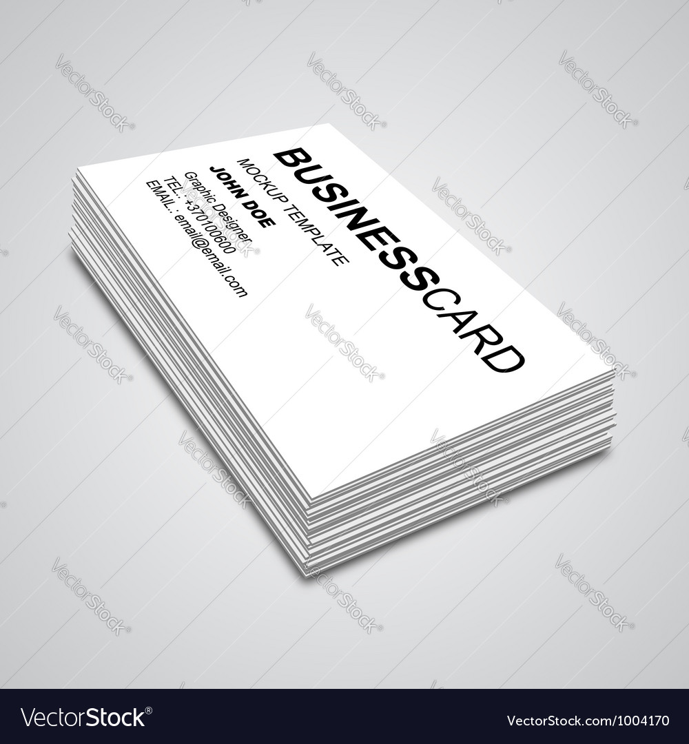 Business Card Mockup Royalty Free Vector Image