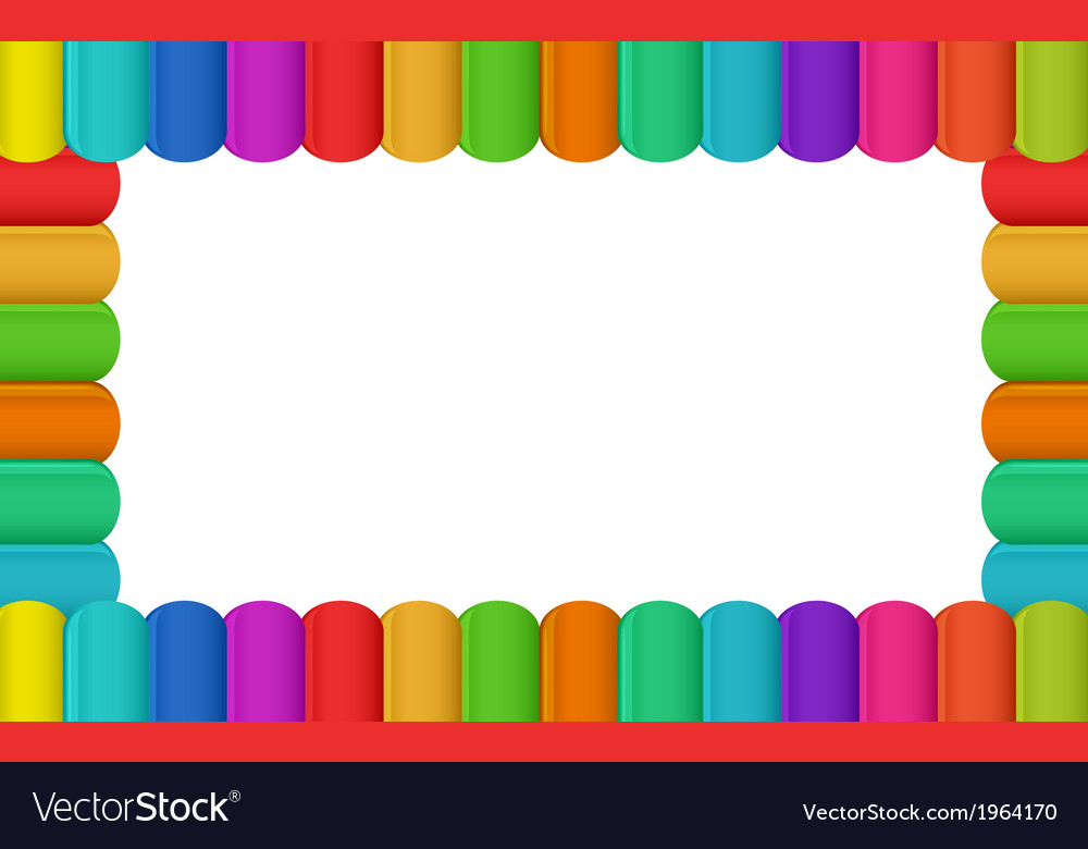 Colorful border design Royalty Free Vector Image