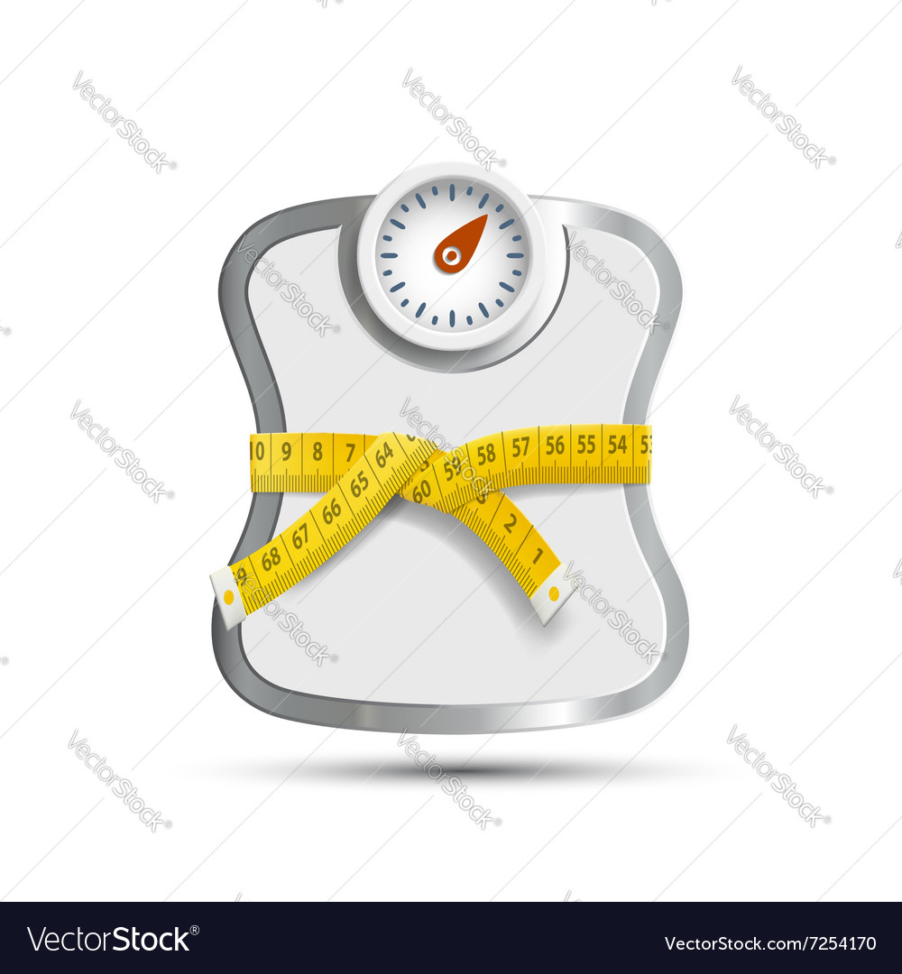 Scales for weighing vector image