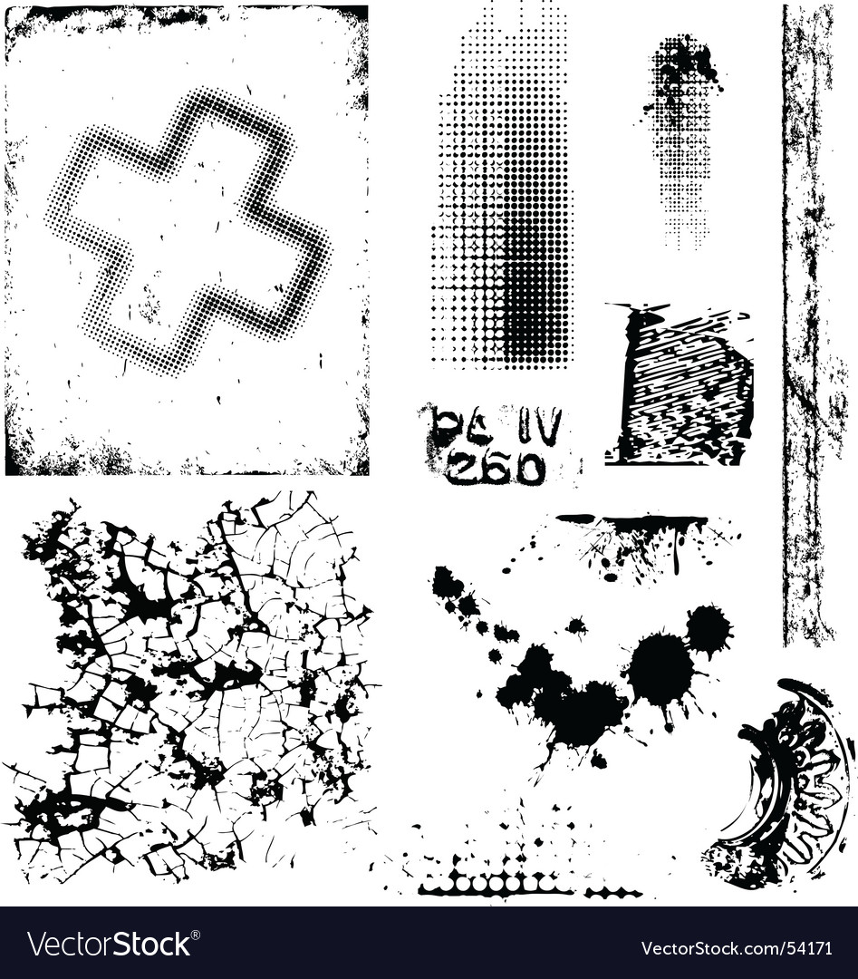 Grungy textures vector image