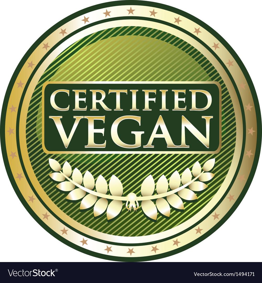 Certified Vegan vector image