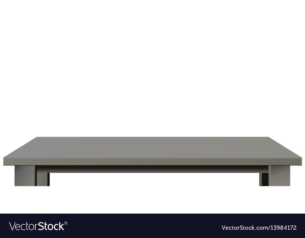 Dark wooden or plastic black tabletop vector image