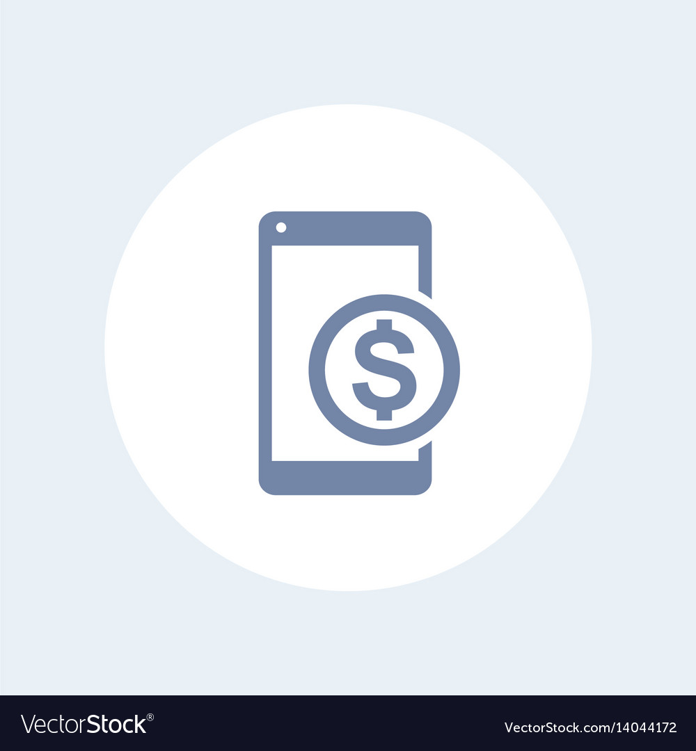 Mobile banking icon vector image