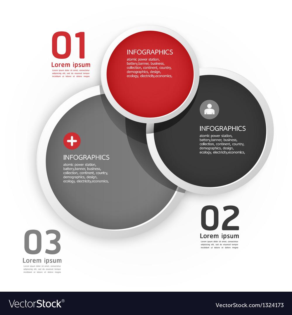 Modern Design Circle template vector image