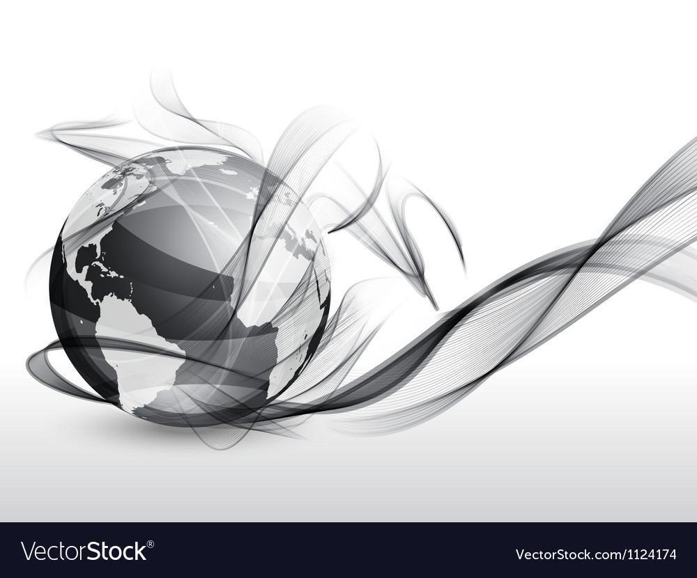 Globe in smoke vector image
