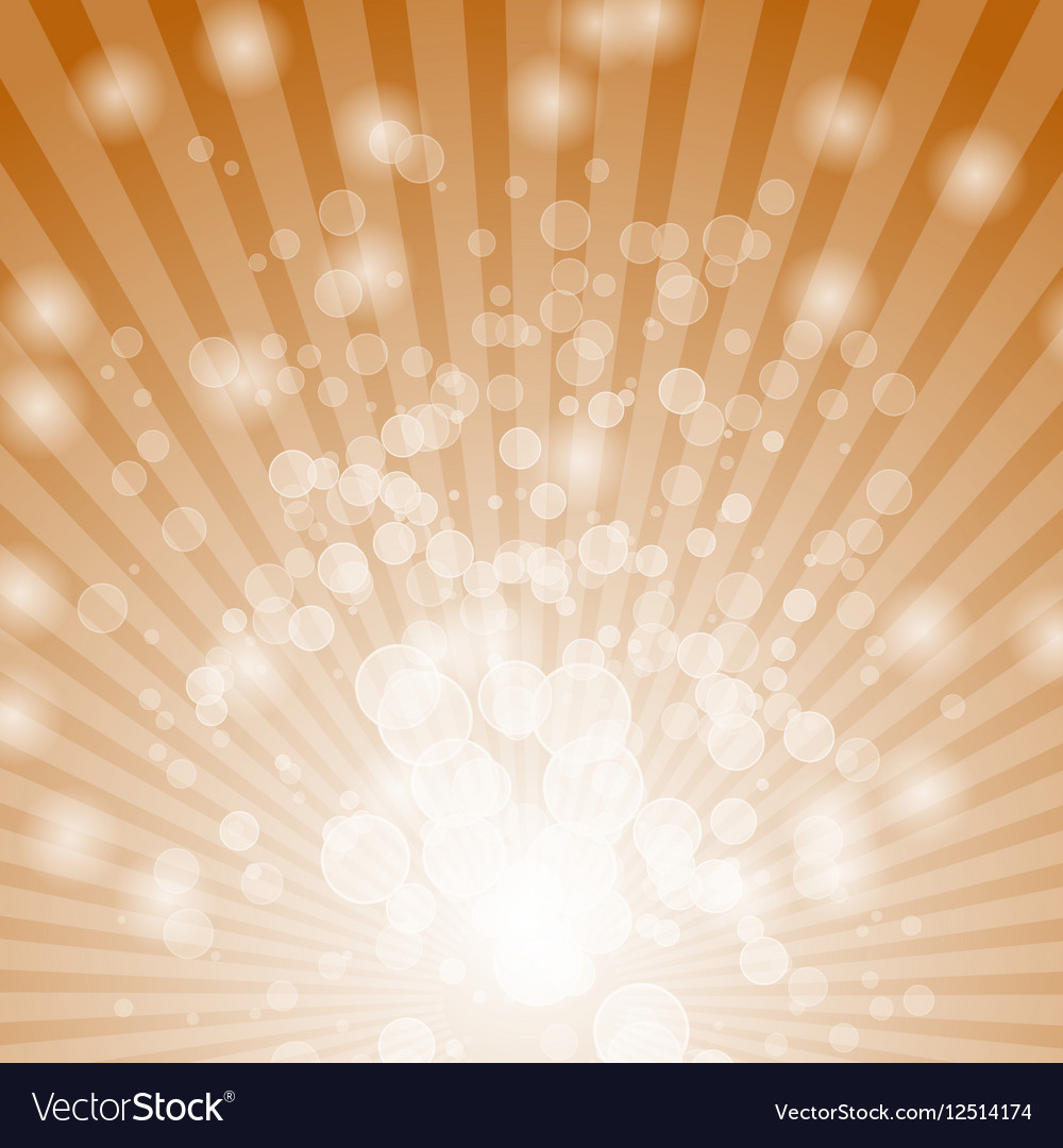 Abstract bokeh on orange background vector image