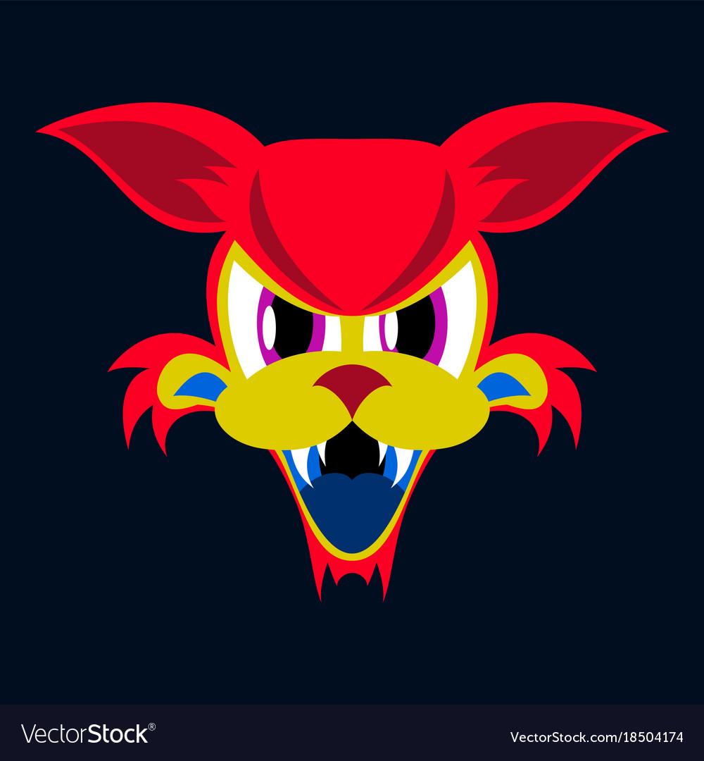 angry grumpy cat flat