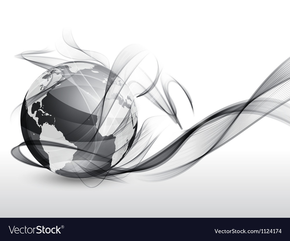 Globe in smoke vector image