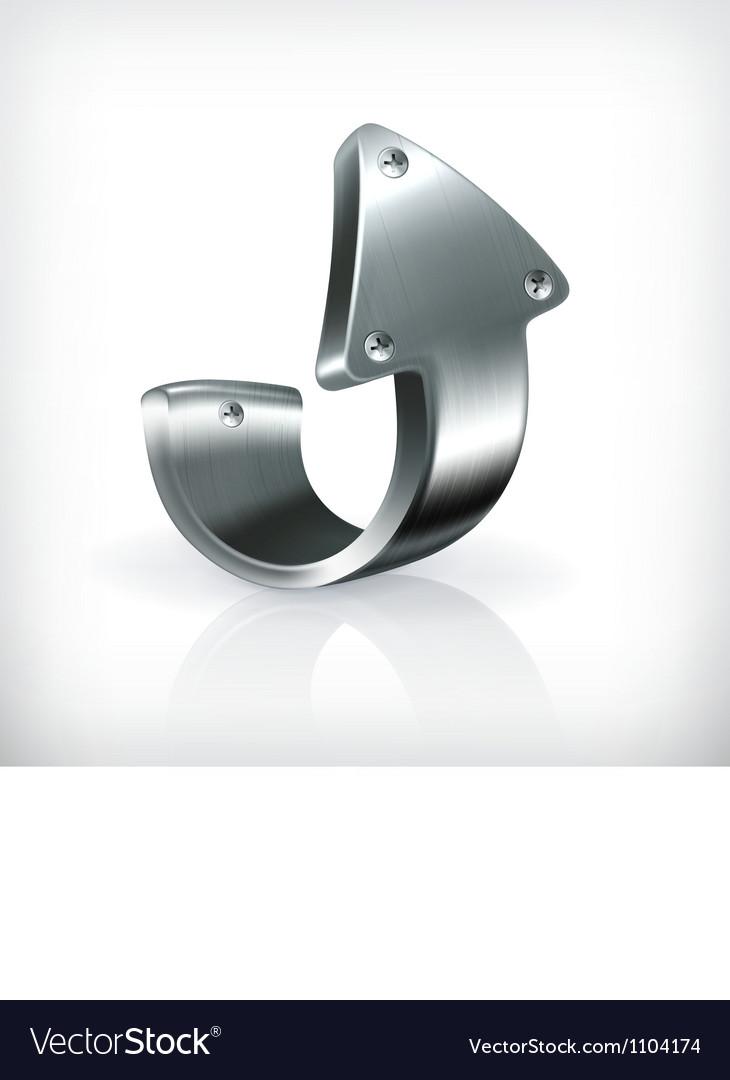 Metal up arrow vector image