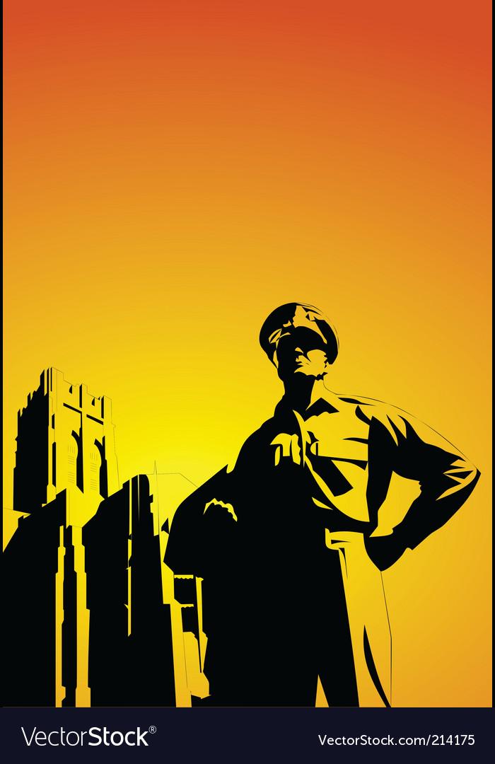 Military man vector image