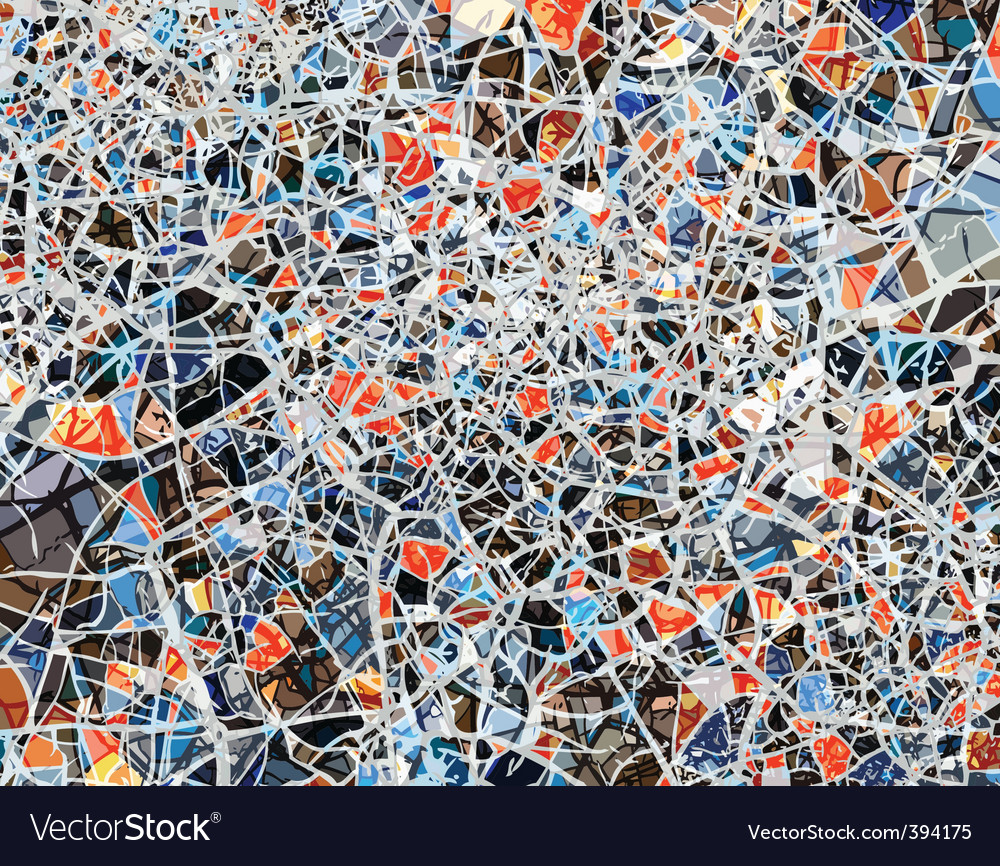 Shattered background vector image