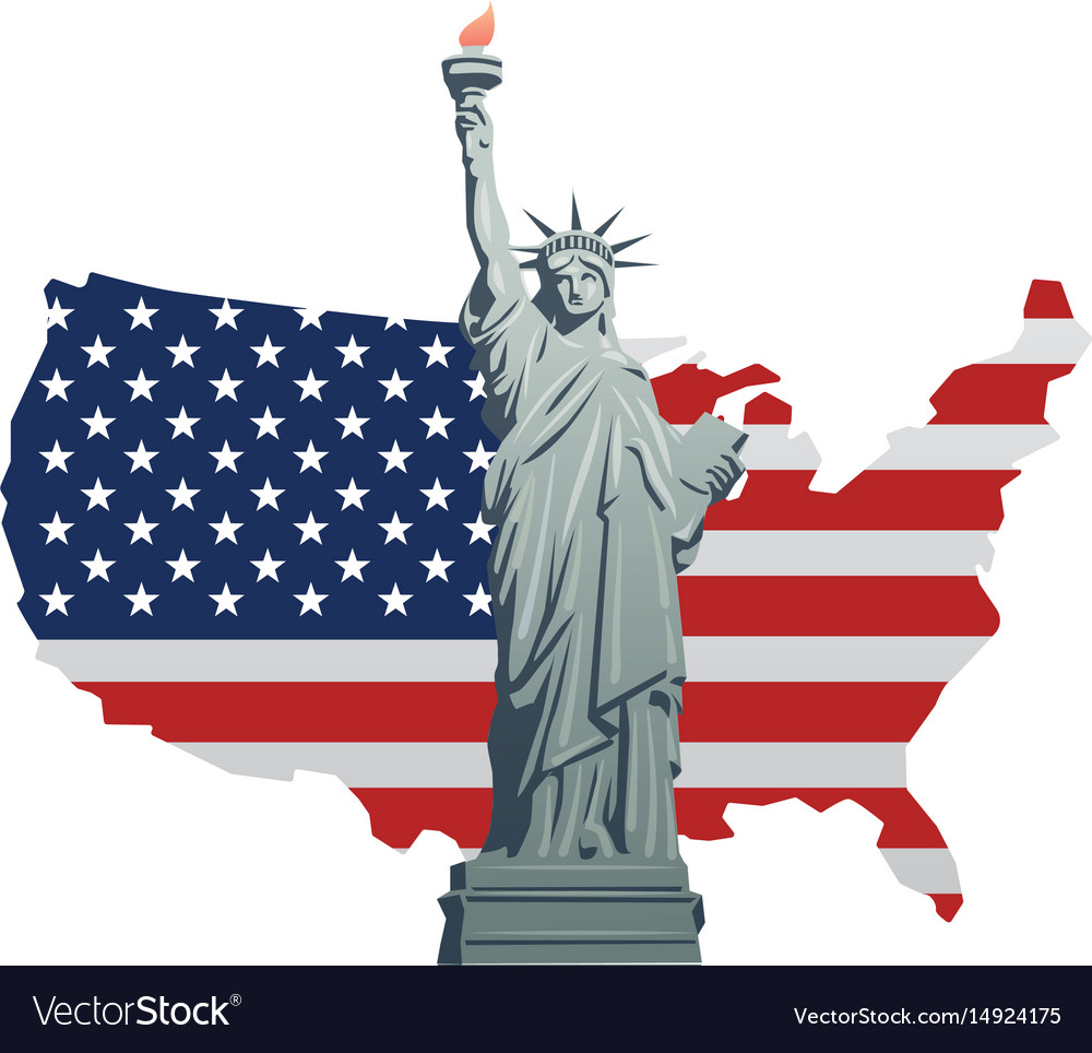 Symbol of america vector image