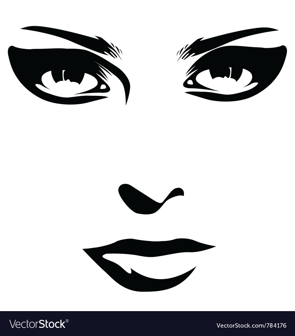 Woman face detail closeup vector image