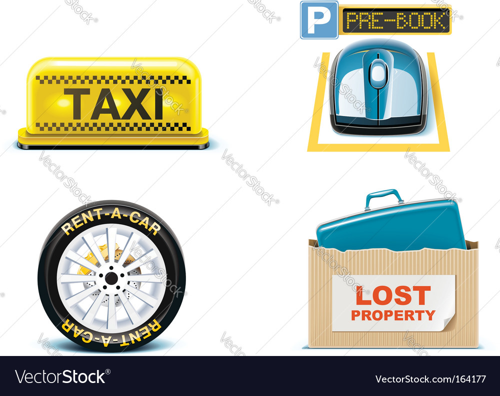Travel and vacations icons vector image