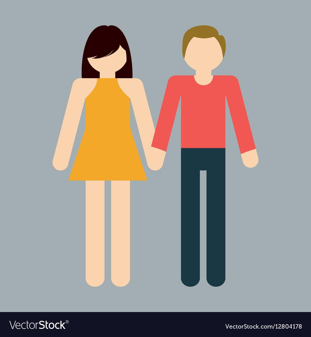 Heterosexual couple icon image vector image
