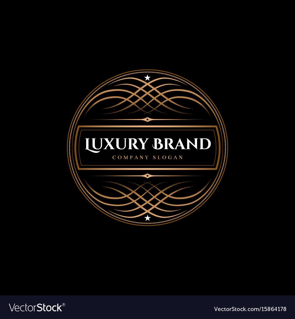 Luxury brand label vector image