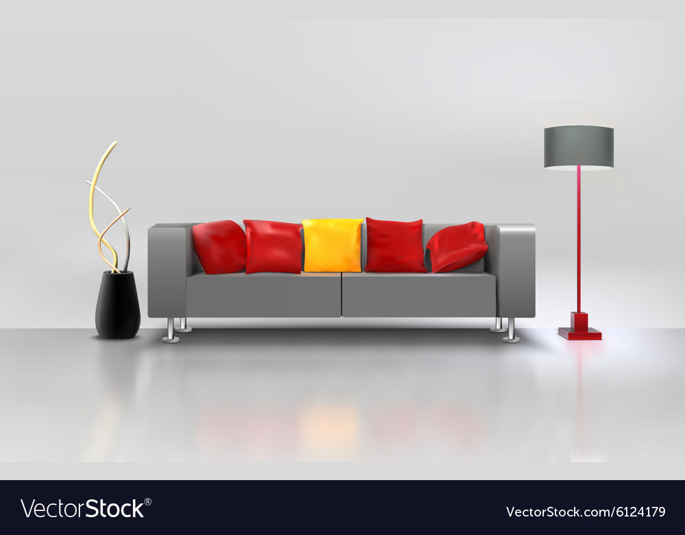 Living Room Interior vector image
