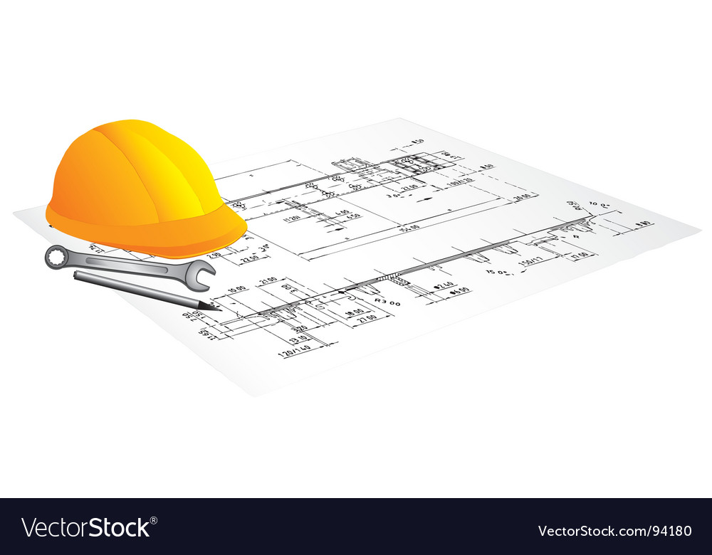 Draft of building vector image