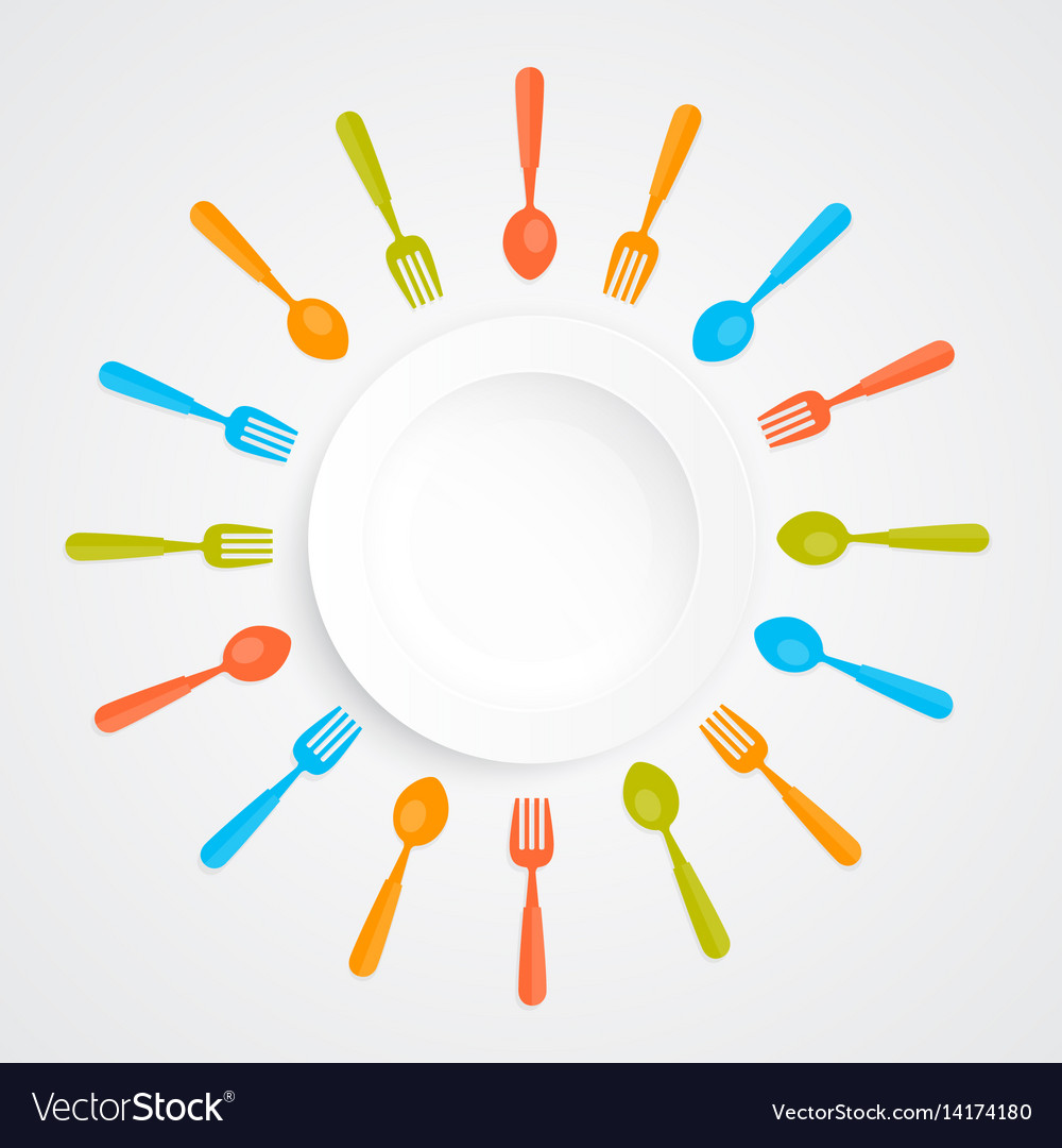 Plate on a white background vector image