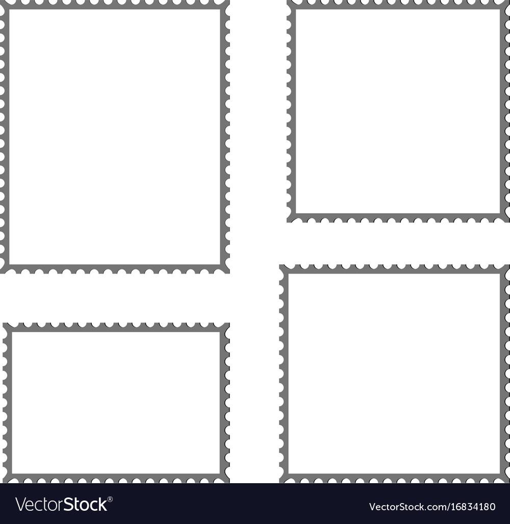 postage stamp blank mockup royalty free vector image. Black Bedroom Furniture Sets. Home Design Ideas