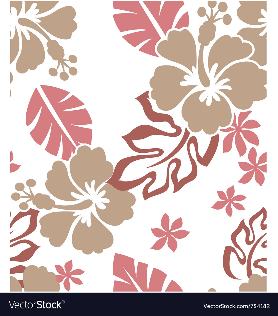 Seamless flower summer vector image
