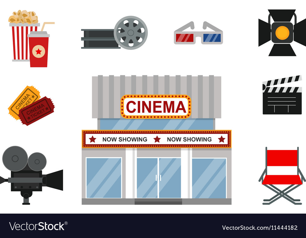 Cinema symbols vector image