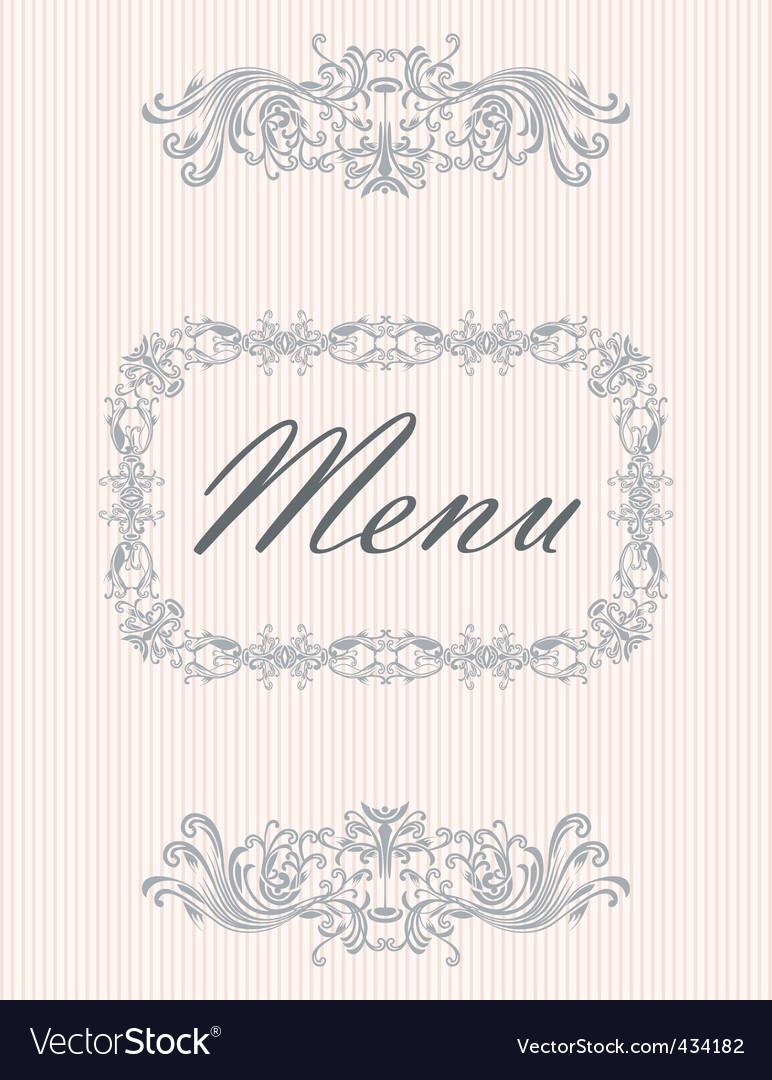 Menu07 vector image