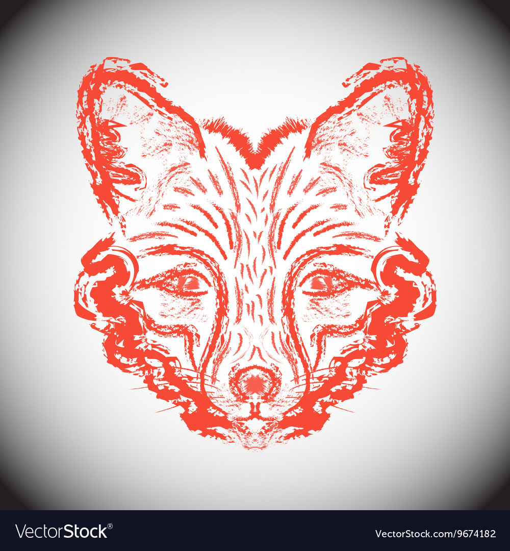 Muzzle foxes vector image