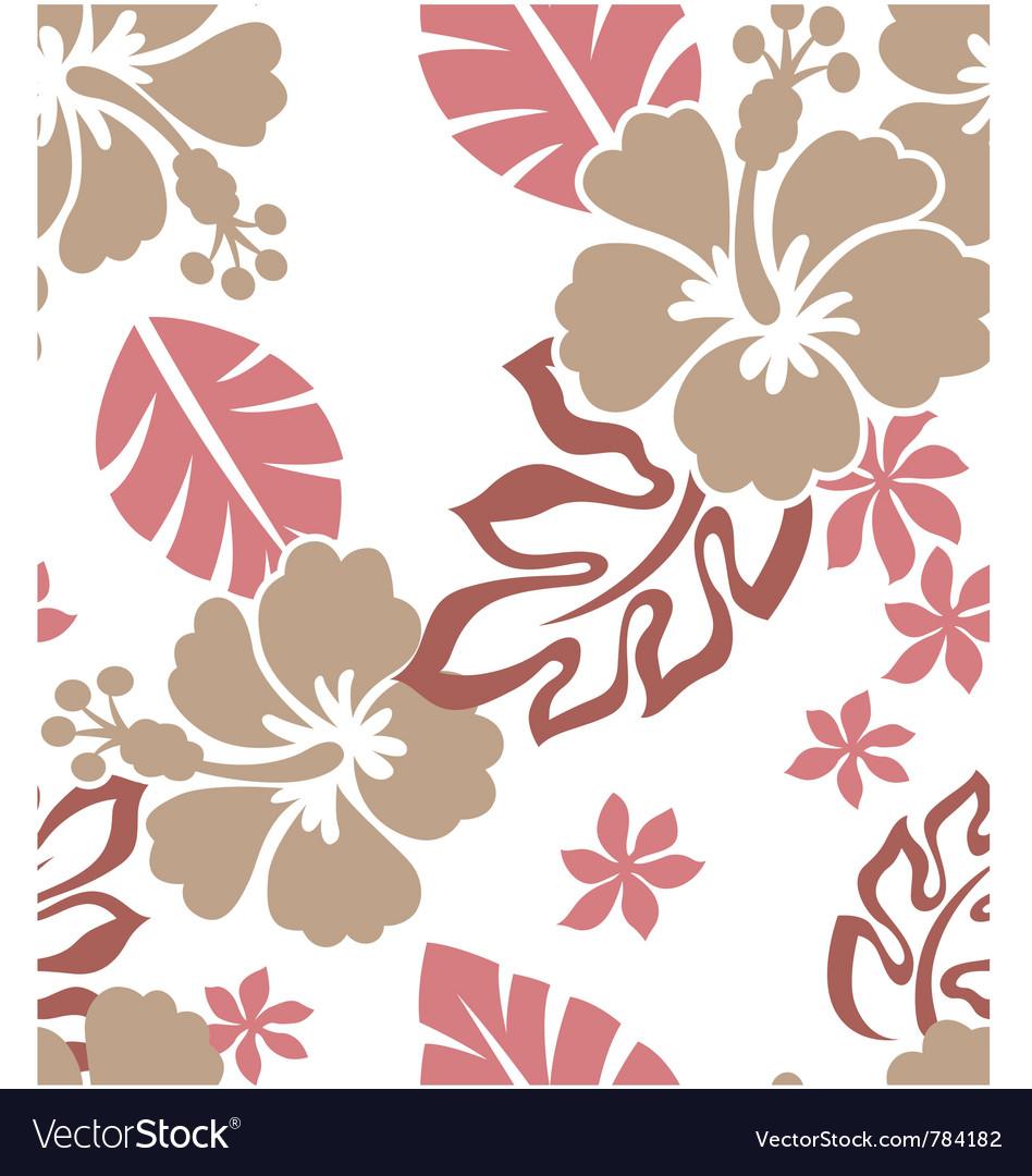 Seamless flower summer vector image