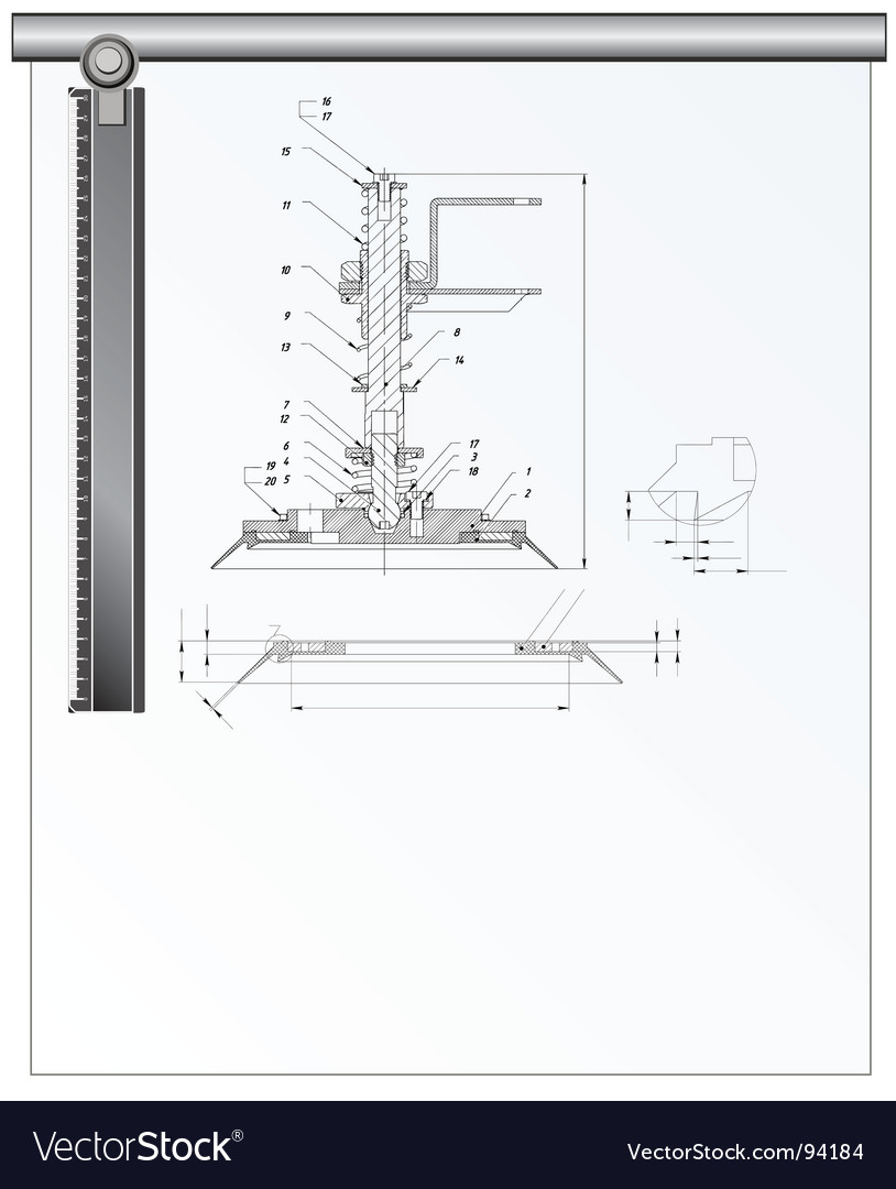 Architectural tools vector image